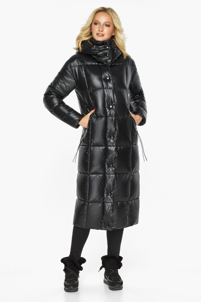 """Теплая куртка женская черная модель 42830 Braggart """"Angel's Fluff"""" фото 5"""