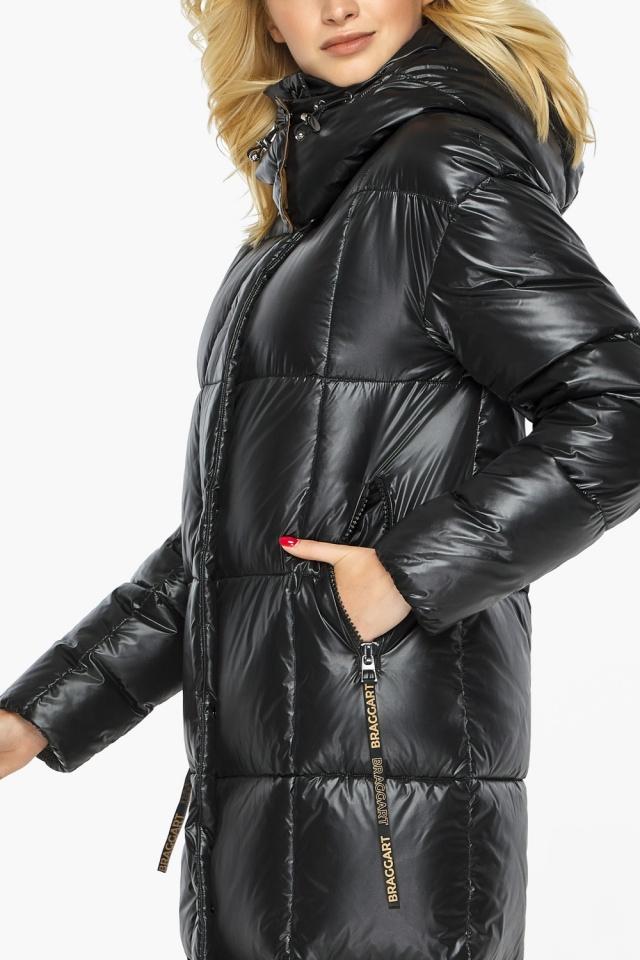"""Теплая куртка женская черная модель 42830 Braggart """"Angel's Fluff"""" фото 7"""