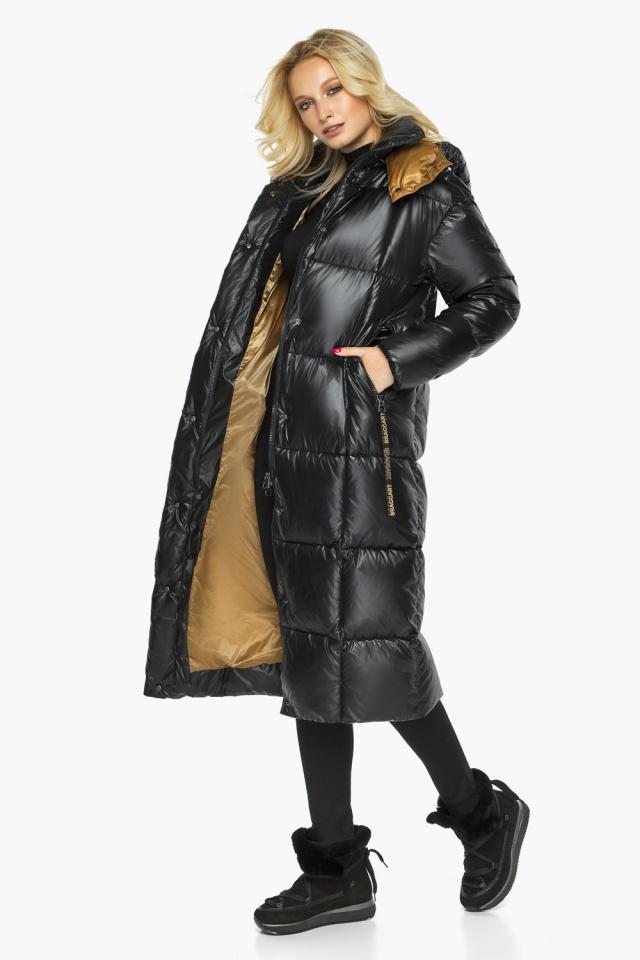 """Теплая куртка женская черная модель 42830 Braggart """"Angel's Fluff"""" фото 2"""