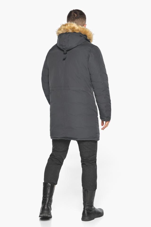 """Куртка – воздуховик зимний свободного силуэта мужской графитовый модель 30618 Braggart """"Angel's Fluff Man"""" фото 9"""