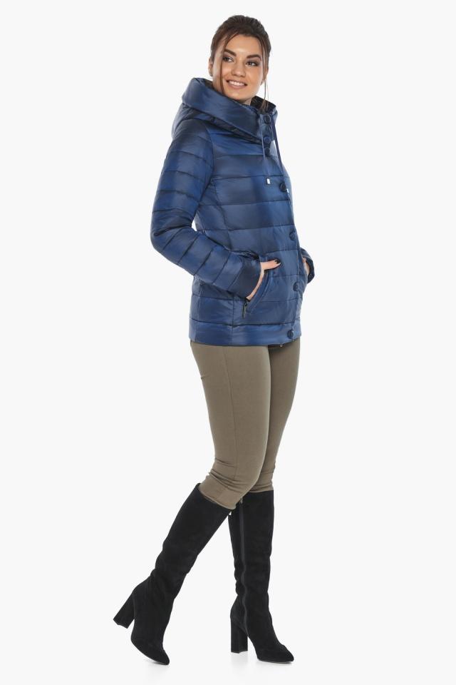 """Женская куртка модная весенняя цвет сапфировый модель 61030 Braggart """"Angel's Fluff"""" фото 3"""