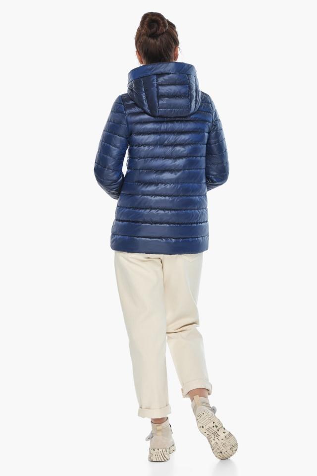 """Куртка с вшитым капюшоном женская осенне-весенняя сапфировая модель 68240 Braggart """"Angel's Fluff"""" фото 6"""