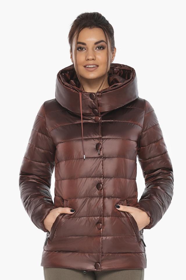"""Каштановая женская куртка осенне-весенняя практичная модель 61030 Braggart """"Angel's Fluff"""" фото 4"""