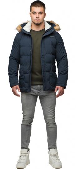 """Темно-синяя молодежная куртка зимняя для мужчин модель 25780 Braggart """"Youth"""" фото 1"""