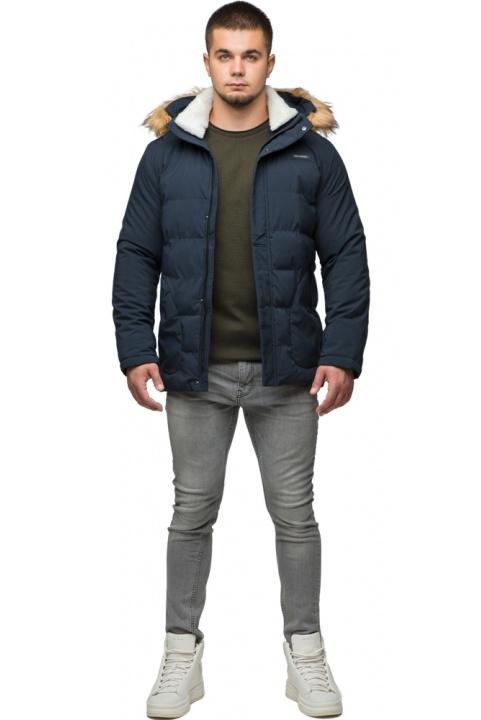 """Чоловіча зимова курточка прямого крою темно-синя модель 25780 Braggart """"Youth"""" фото 1"""