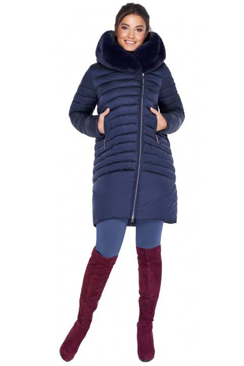 """Куртка качественная синяя на зиму женская модель 31038 Braggart """"Angel's Fluff"""" фото 1"""
