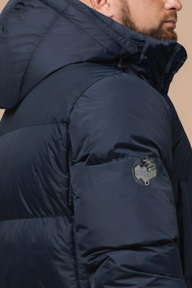 "Практичная куртка на зиму мужская тёмно-синяя модель 27055 Braggart ""Dress Code"" фото 7"