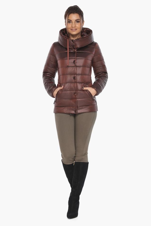 """Каштановая женская куртка осенне-весенняя практичная модель 61030 Braggart """"Angel's Fluff"""" фото 2"""