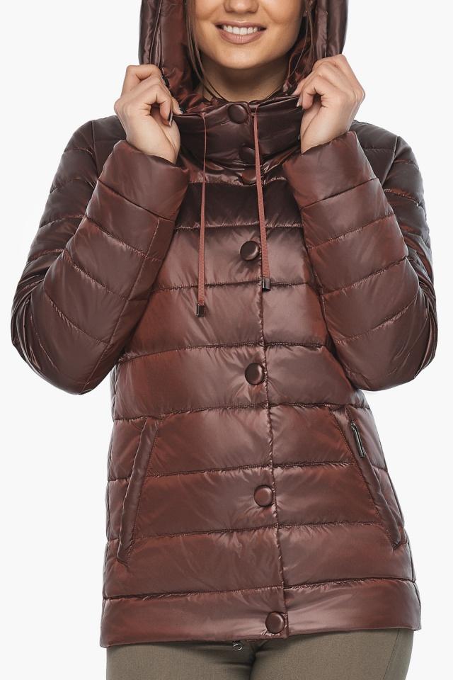 """Каштановая женская куртка осенне-весенняя практичная модель 61030 Braggart """"Angel's Fluff"""" фото 8"""