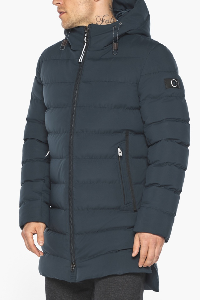 "Графитово-синяя курточка на зиму для мужчин модель 49080 Braggart ""Aggressive"" фото 11"