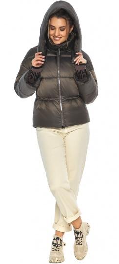 """Капучиновая стильная куртка женская зимняя модель 41975 Braggart """"Angel's Fluff"""" фото 1"""