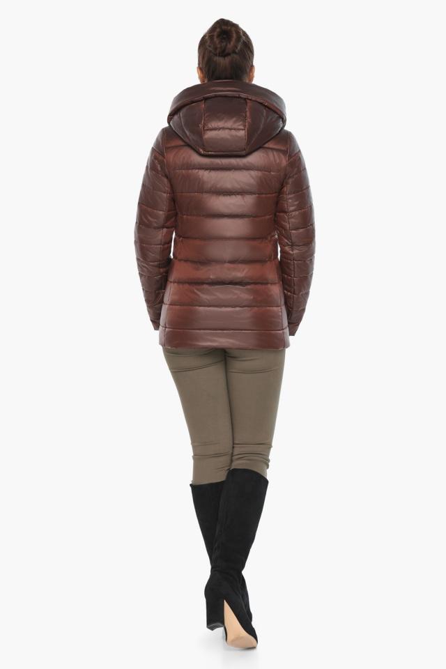 """Каштановая женская куртка осенне-весенняя практичная модель 61030 Braggart """"Angel's Fluff"""" фото 7"""