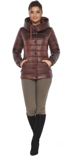 """Каштановая женская куртка осенне-весенняя практичная модель 61030 Braggart """"Angel's Fluff"""" фото 1"""