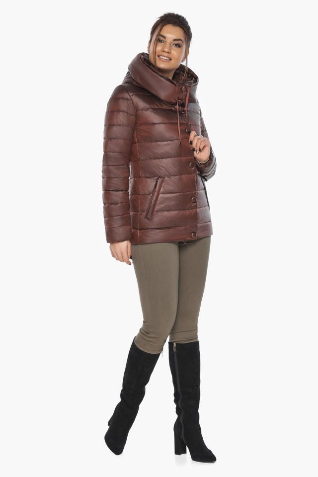 """Каштановая женская куртка осенне-весенняя практичная модель 61030 Braggart """"Angel's Fluff"""" фото 5"""