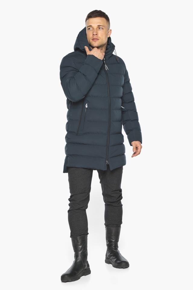 "Графитово-синяя курточка на зиму для мужчин модель 49080 Braggart ""Aggressive"" фото 2"