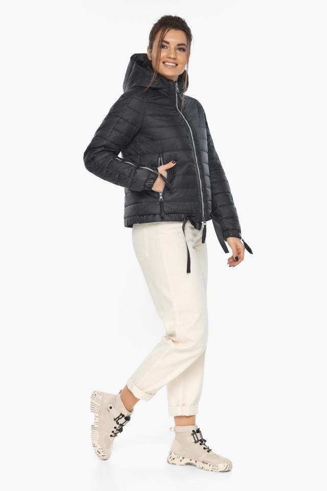 """Чёрная удобная куртка женская осенне-весенняя модель 62574 Braggart """"Angel's Fluff"""" фото 3"""