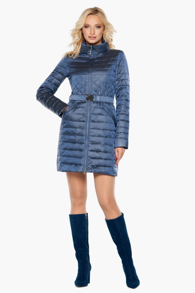 """Куртка с карманами осенне-весенняя женская цвет ниагара модель 39002 Braggart """"Angel's Fluff"""" фото 2"""