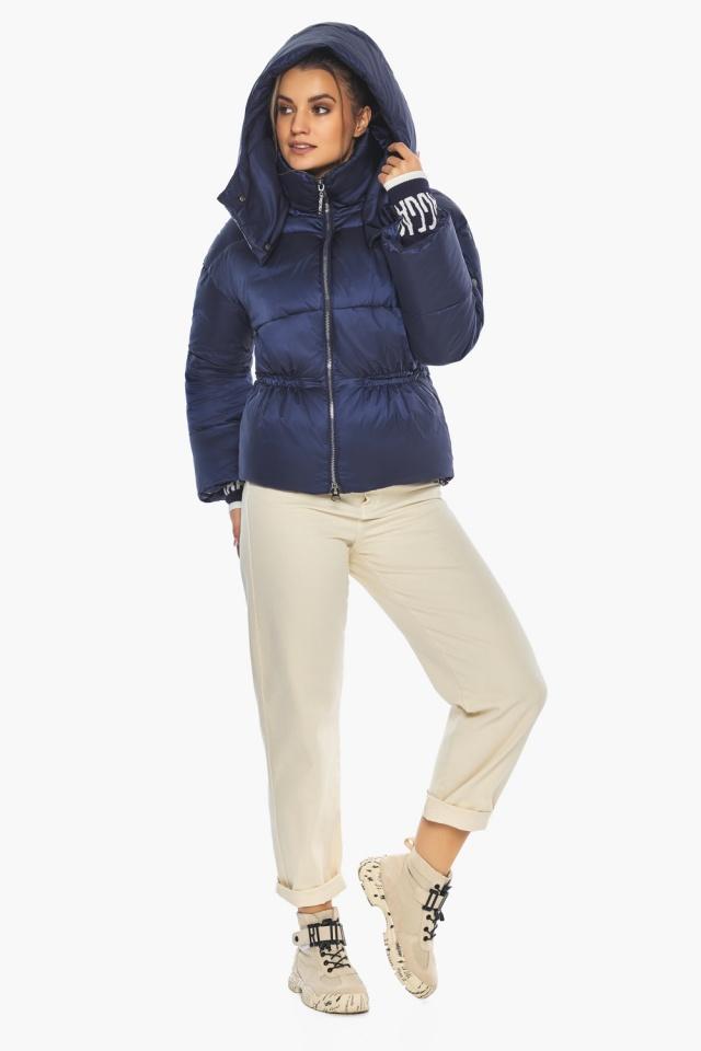 "Зимняя куртка фирменная женская синий бархат модель 41975 Braggart ""Angel's Fluff"" фото 2"