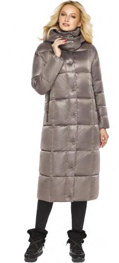 """Куртка на молнии женская цвет кварцевый модель 42830 Braggart """"Angel's Fluff"""" фото 1"""