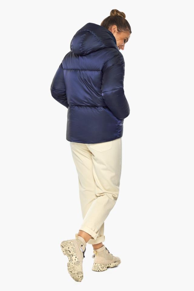 "Зимняя куртка фирменная женская синий бархат модель 41975 Braggart ""Angel's Fluff"" фото 8"