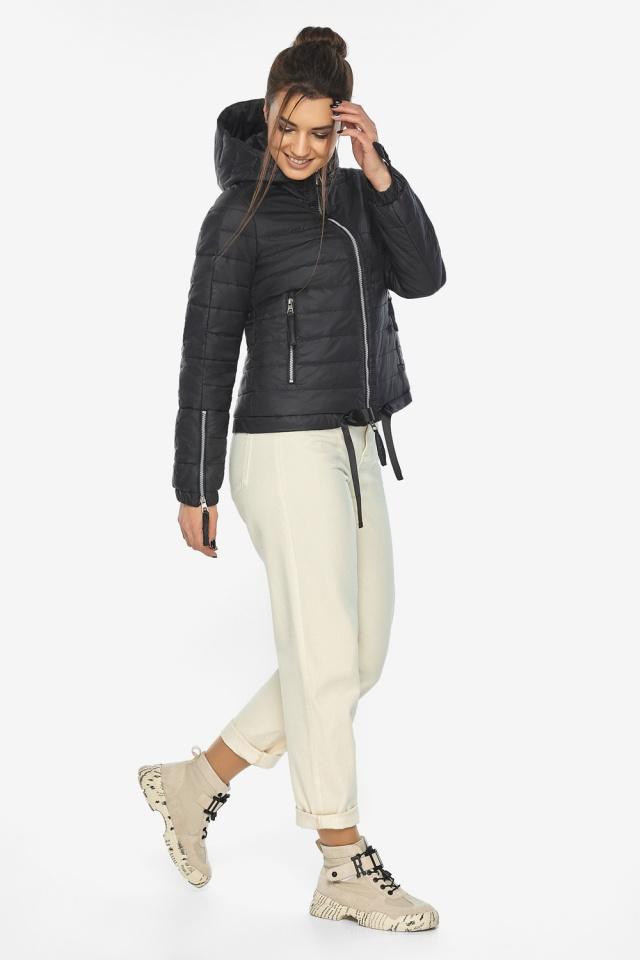 """Чёрная удобная куртка женская осенне-весенняя модель 62574 Braggart """"Angel's Fluff"""" фото 2"""