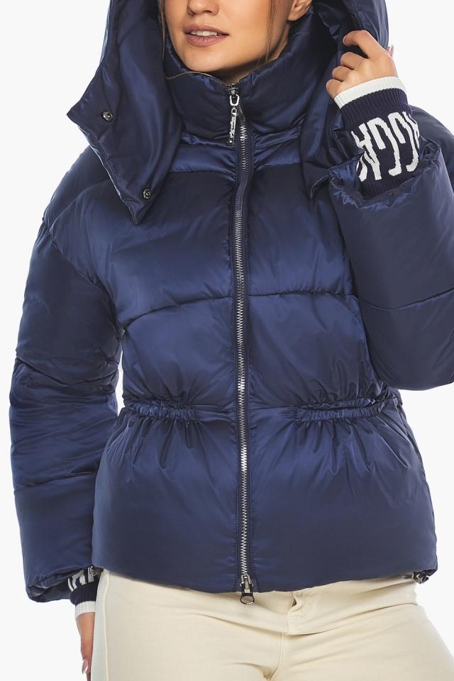"Зимняя куртка фирменная женская синий бархат модель 41975 Braggart ""Angel's Fluff"" фото 9"