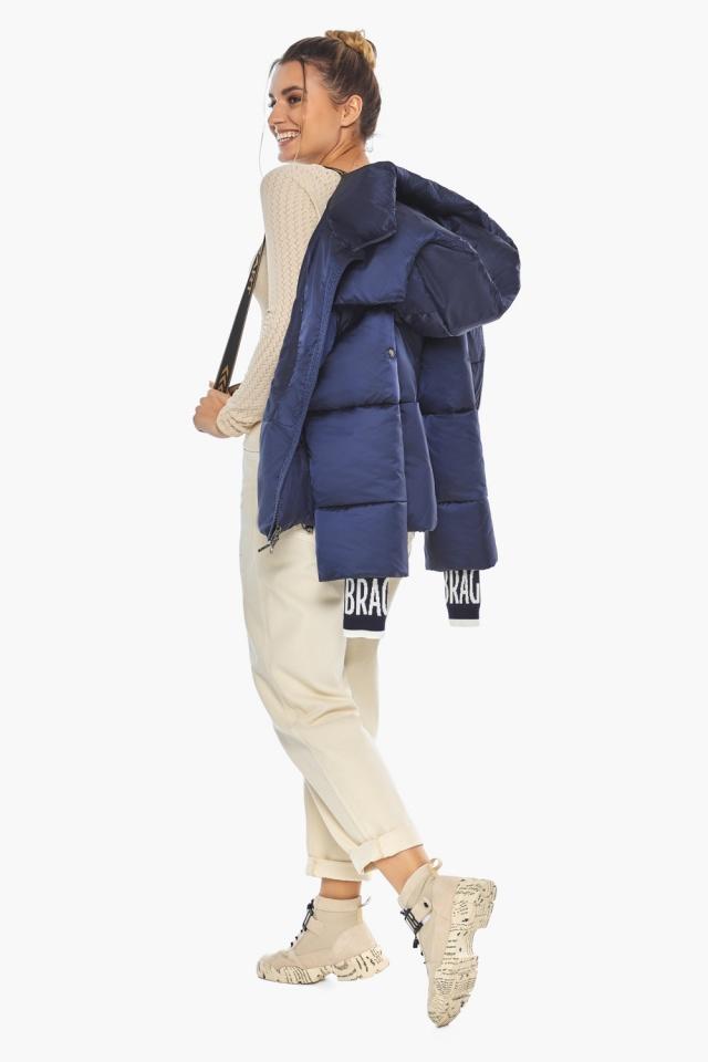 "Зимняя куртка фирменная женская синий бархат модель 41975 Braggart ""Angel's Fluff"" фото 4"