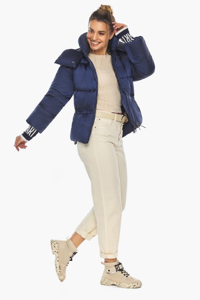 "Зимняя куртка фирменная женская синий бархат модель 41975 Braggart ""Angel's Fluff"" фото 5"