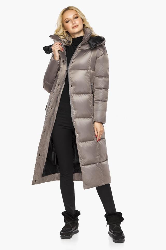 """Куртка на молнии женская цвет кварцевый модель 42830 Braggart """"Angel's Fluff"""" фото 3"""