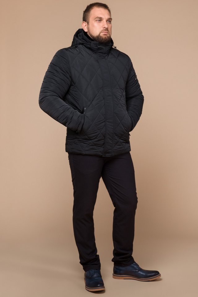 """Графитовая куртка для мужчин на зиму модель 19121 Braggart """"Dress Code"""" фото 2"""