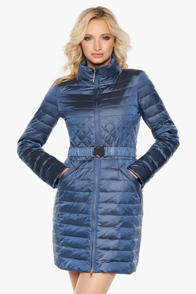 """Куртка с карманами осенне-весенняя женская цвет ниагара модель 39002 Braggart """"Angel's Fluff"""" фото 4"""