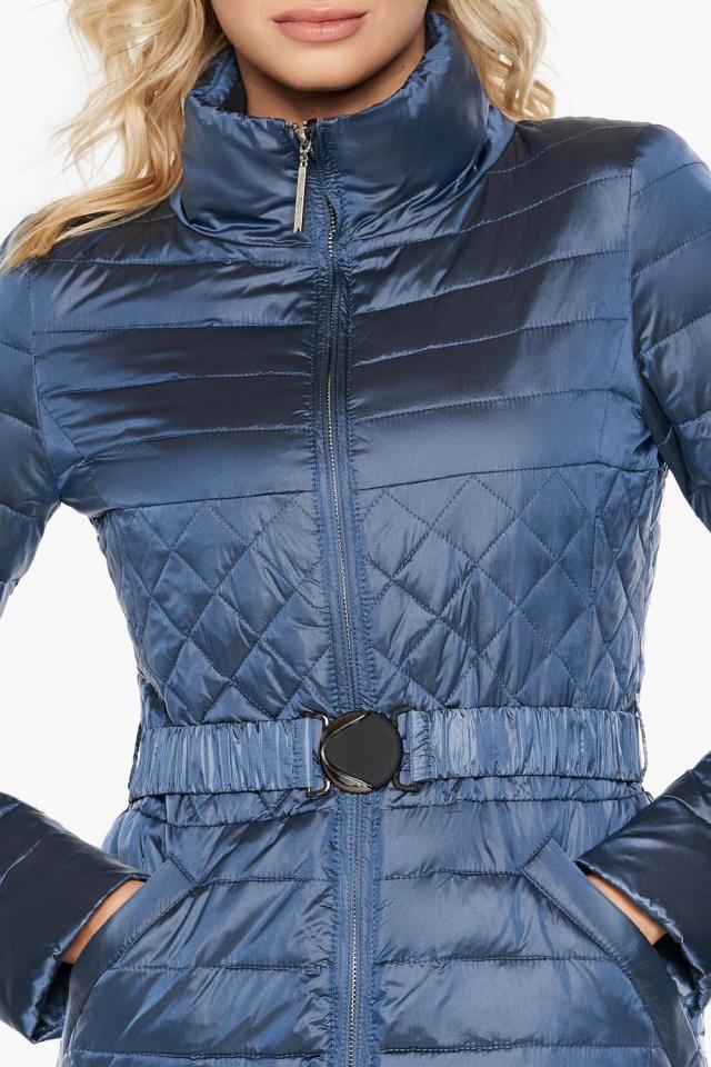 """Куртка с карманами осенне-весенняя женская цвет ниагара модель 39002 Braggart """"Angel's Fluff"""" фото 6"""