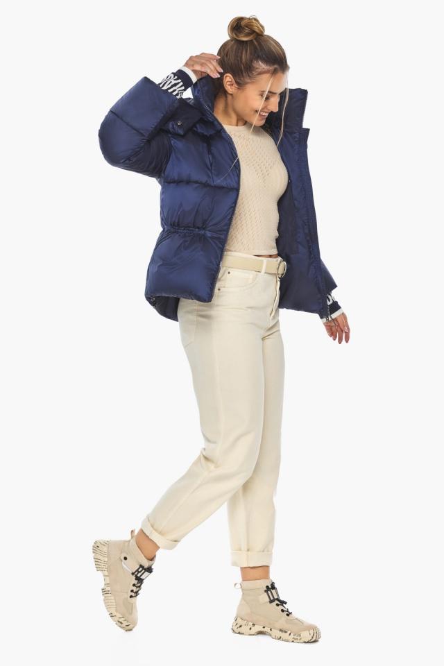 "Зимняя куртка фирменная женская синий бархат модель 41975 Braggart ""Angel's Fluff"" фото 7"