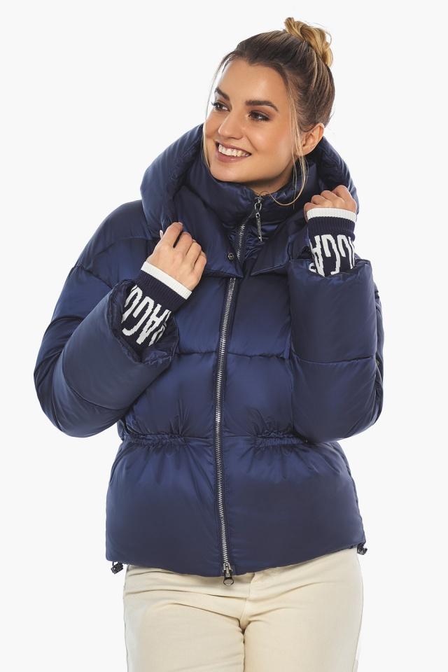 "Зимняя куртка фирменная женская синий бархат модель 41975 Braggart ""Angel's Fluff"" фото 3"