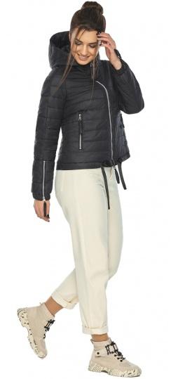 """Чёрная удобная куртка женская осенне-весенняя модель 62574 Braggart """"Angel's Fluff"""" фото 1"""