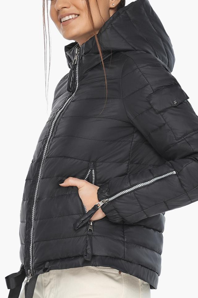 """Чёрная удобная куртка женская осенне-весенняя модель 62574 Braggart """"Angel's Fluff"""" фото 7"""