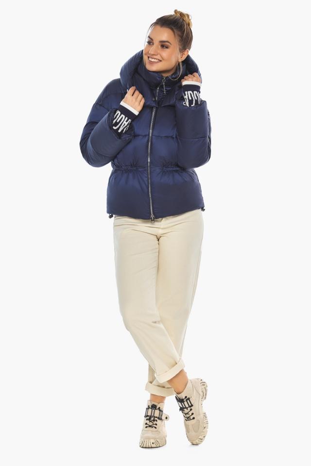 "Зимняя куртка фирменная женская синий бархат модель 41975 Braggart ""Angel's Fluff"" фото 6"
