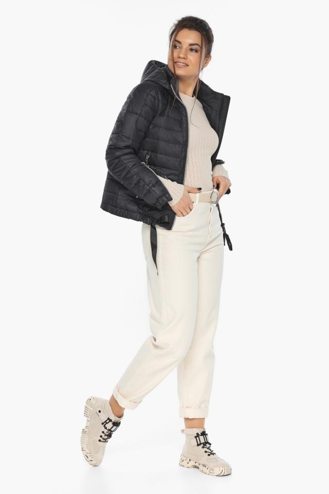 """Чёрная удобная куртка женская осенне-весенняя модель 62574 Braggart """"Angel's Fluff"""" фото 4"""