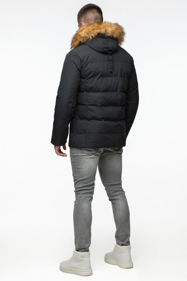 "Модная тёплая куртка на мальчика чёрная модель 25780 Braggart ""Youth"" фото 6"