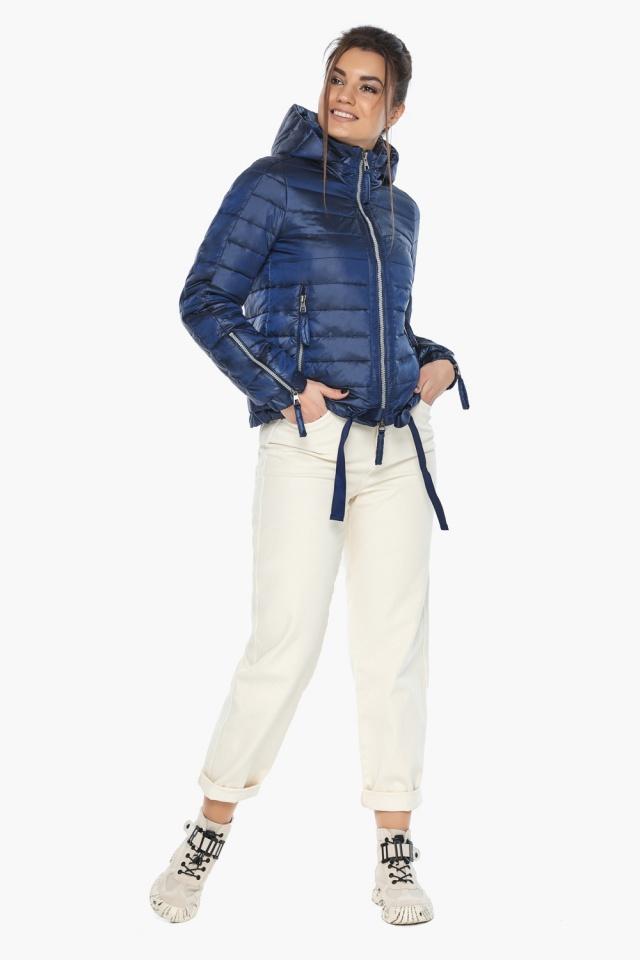 """Сапфировая куртка трендовая женская осенняя модель 62574 Braggart """"Angel's Fluff"""" фото 5"""