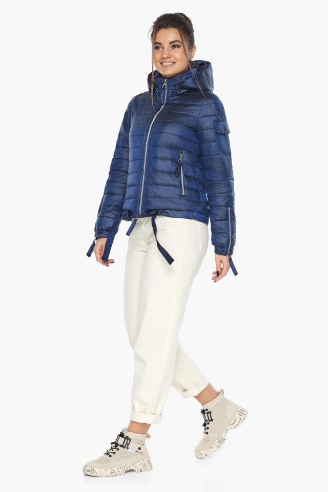 """Сапфировая куртка трендовая женская осенняя модель 62574 Braggart """"Angel's Fluff"""" фото 2"""