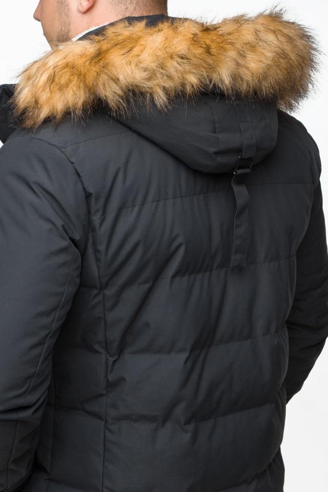 "Модная тёплая куртка на мальчика чёрная модель 25780 Braggart ""Youth"" фото 10"