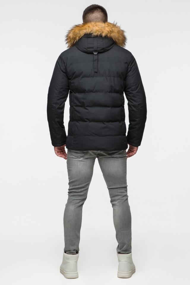 "Модная тёплая куртка на мальчика чёрная модель 25780 Braggart ""Youth"" фото 7"