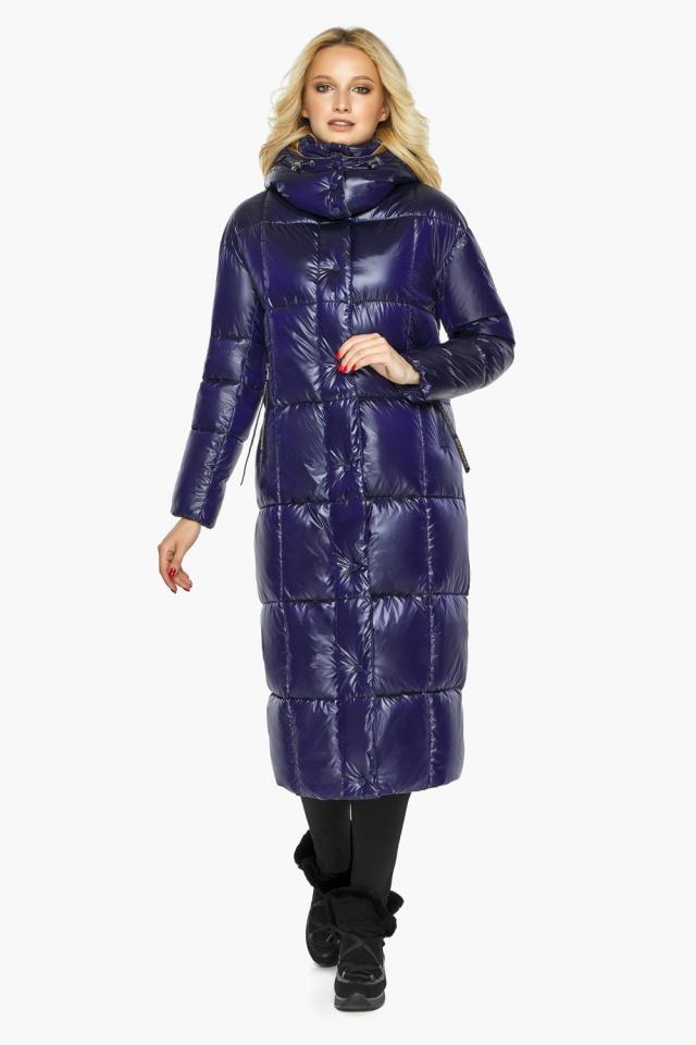 """Куртка женская фирменная цвет синий бархат модель 42830 Braggart """"Angel's Fluff"""" фото 2"""