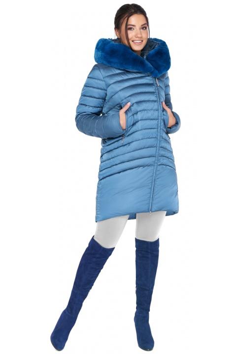 """Куртка аквамаринова зимова жіноча модель 31038 Braggart """"Angel's Fluff"""" фото 1"""