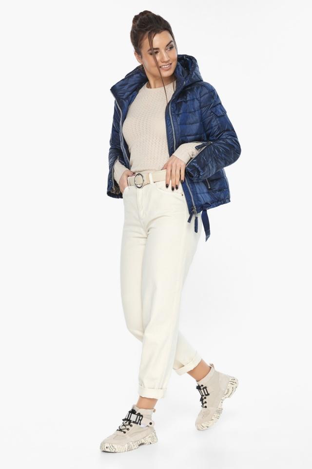 """Сапфировая куртка трендовая женская осенняя модель 62574 Braggart """"Angel's Fluff"""" фото 3"""