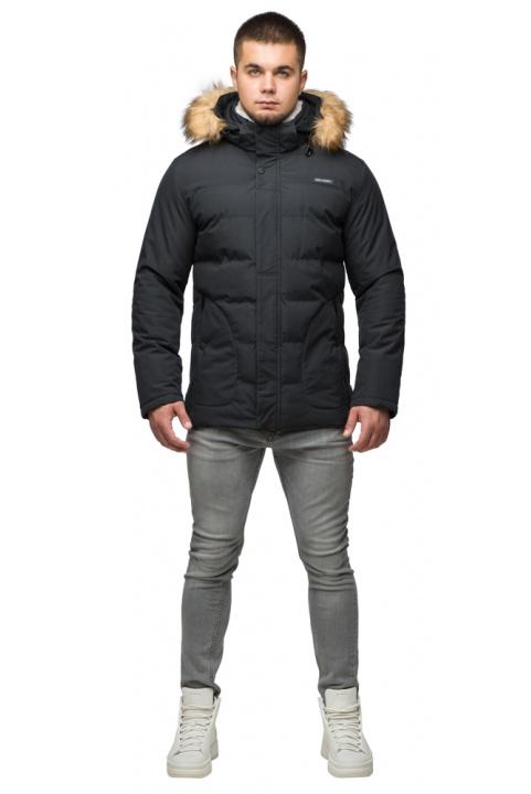 """Модна тепла куртка на хлопчика чорна модель 25780 Braggart """"Youth"""" фото 1"""