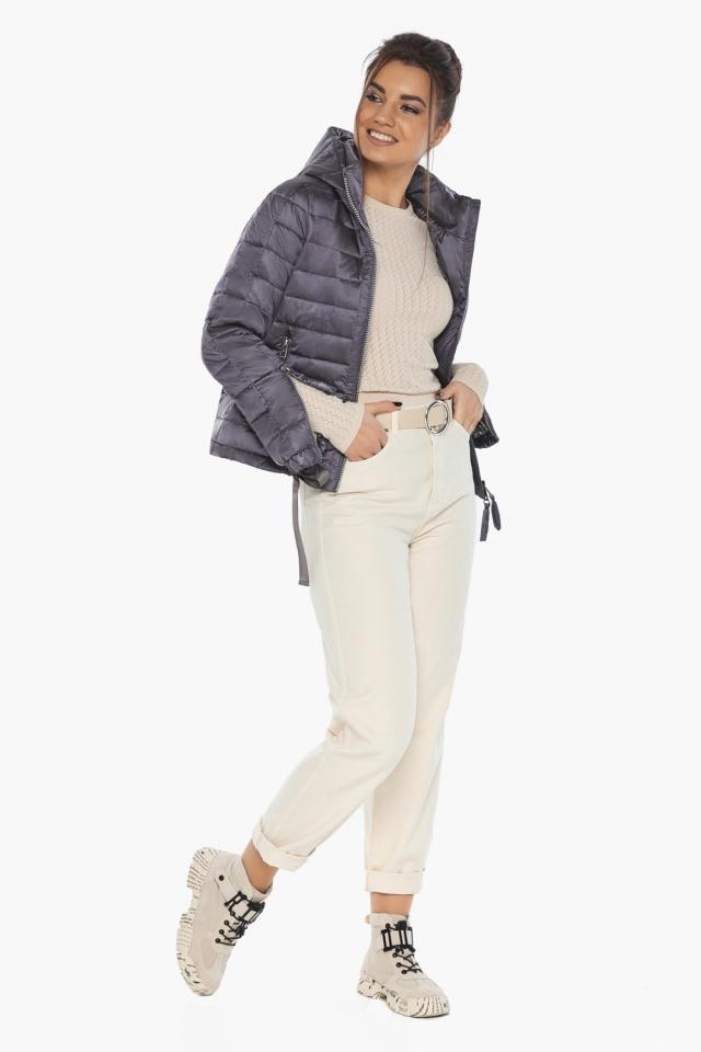 """Куртка лавандовая женская модная на осень-весну модель 62574 Braggart """"Angel's Fluff"""" фото 3"""