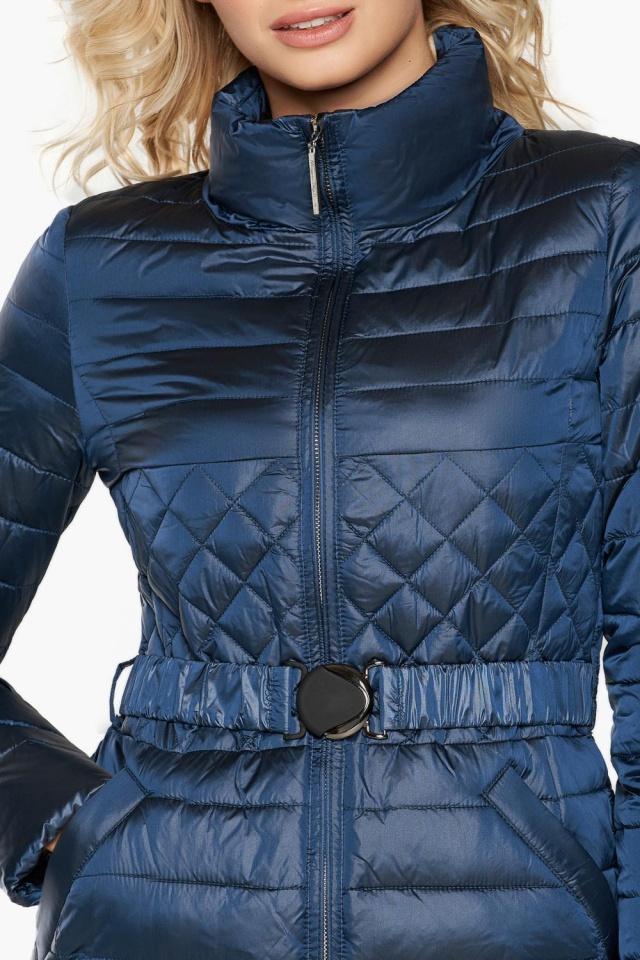 """Женская куртка осенне-весенняя модная цвет темная лазурь модель 39002 Braggart """"Angel's Fluff"""" фото 6"""