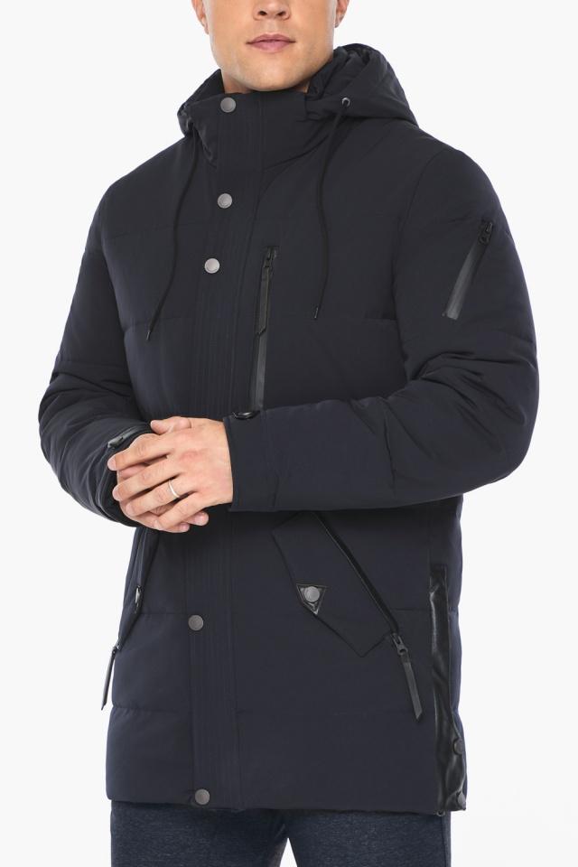 """Куртка – воздуховик синего цвета мужской на зиму модель 19650 Braggart """"Angel's Fluff Man"""" фото 9"""